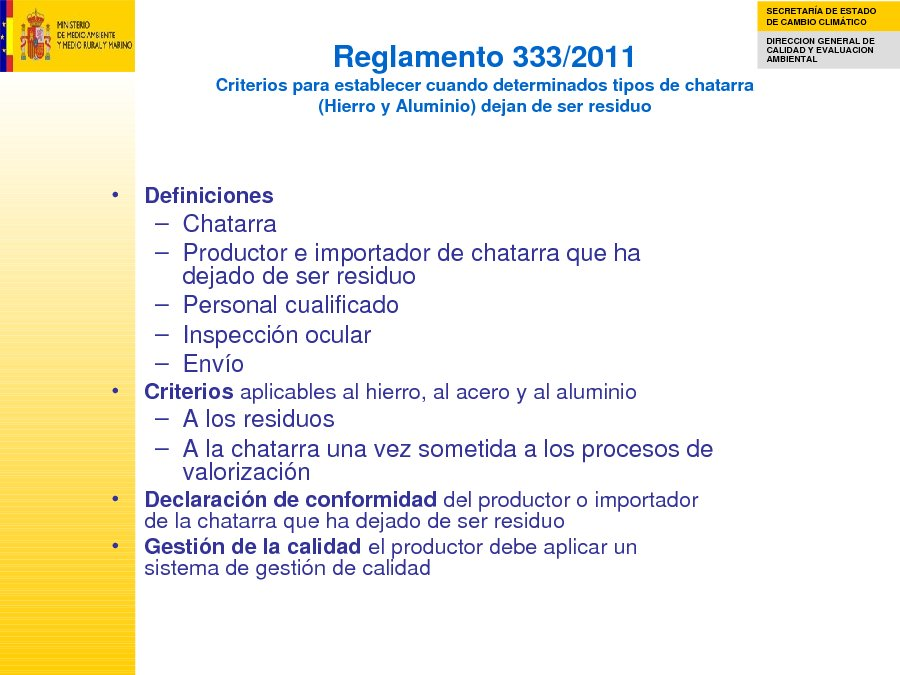 Presentación Ana Rodríguez Cruz. Subdir. Xeral de Producción e Consumo Sostible. Dirección Xeral de Calidade e Evaluación Ambiental. Ministerio de Medio Ambente e Medio Rural e Mariño.
